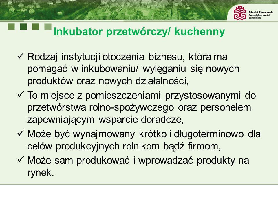 Inkubator przetwórczy/ kuchenny Popularne w innych krajach Europy Zach.