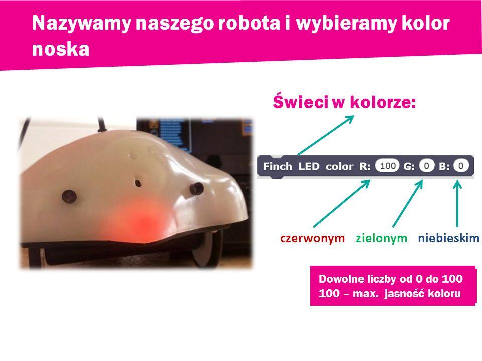 Uczymy robota jak się poruszać Cel: sterowanie robotem za pomocą strzałek i spacji robot jedzie do przodu robot jedzie do tyłu robot jedzie w prawo ro