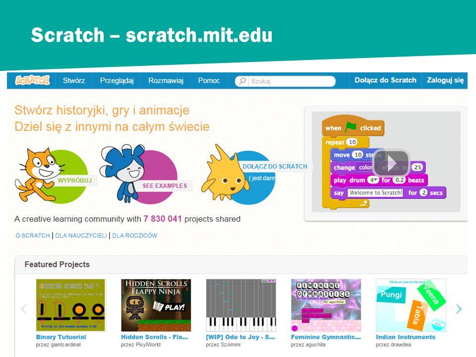 Scratch – scratch.mit.edu