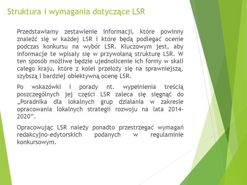 """Struktura i wymagania dotyczące LSR Rozdział IX """"Plan komunikacji Zwięzła charakterystyka zaprojektowanego przez LGD Planu komunikacji ze wskazaniem jego celów i wskaźników działań komunikacyjnych i grup docelowych"""