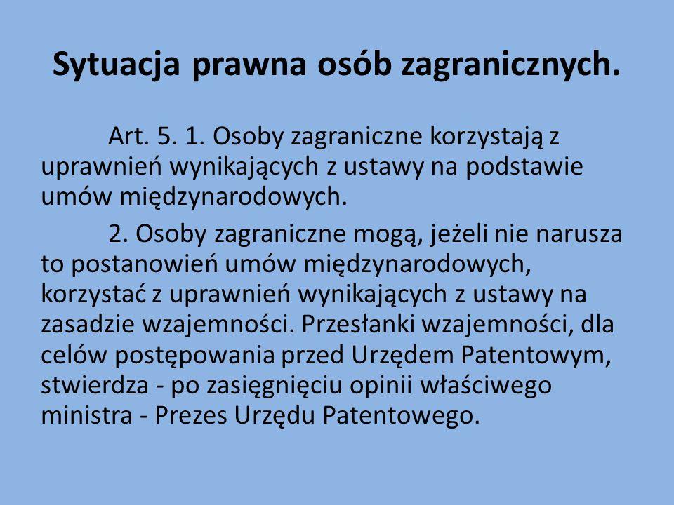 Sytuacja prawna osób zagranicznych. Art. 5. 1.