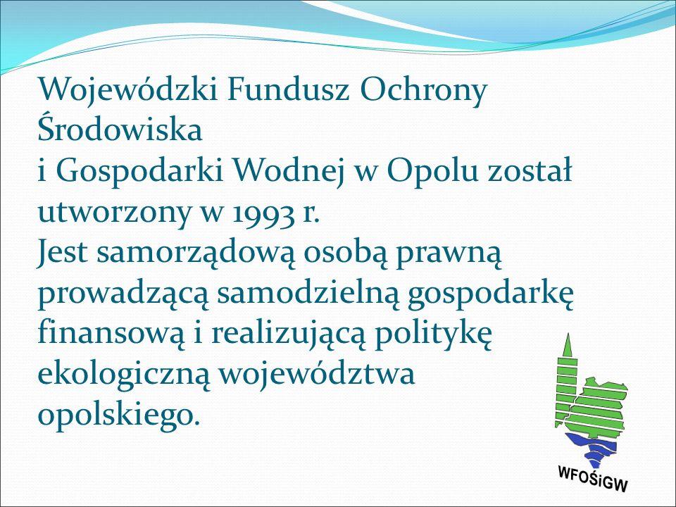 """Zbiorniki retencyjne zrealizowane przy udziale środków WFOŚiGW w Opolu : """"Michalice na rzece Widawie – 1 748 195 m 3 ; """"Włodzienin na rzece Troi – 4 000 000 ; m 3 """"Kluczbork na rzece Stobrawie – 1 683 000 m 3 ; """"Biskupice-Brzóski na rzece Pratwie – 535 000 m 3 ; """"Gajdowe Nadleśnictwo Rudziniec – 49 600 m 3 ; """"Spałek gmina Strzelce Opolskie – 71 400 m 3 ; Zbiornik w Leśnictwie Świerkle - 6 410 m 3."""
