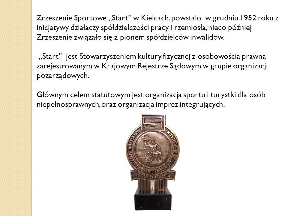 """Zrzeszenie Sportowe """"Start"""" w Kielcach, powstało w grudniu 1952 roku z inicjatywy działaczy spółdzielczości pracy i rzemiosła, nieco później Zrzeszeni"""