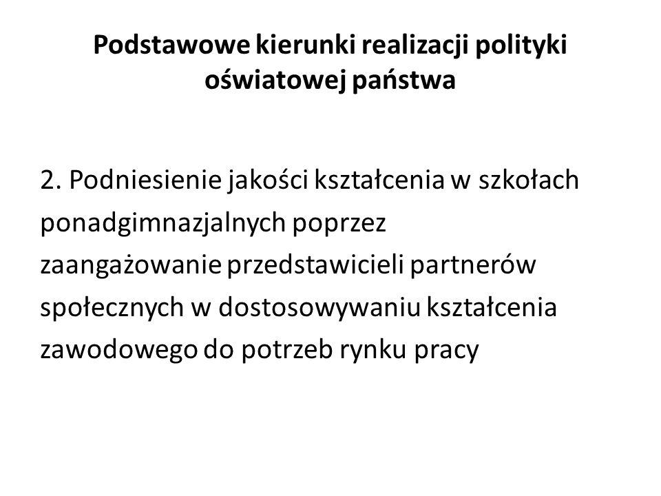 Podstawowe kierunki realizacji polityki oświatowej państwa 2.
