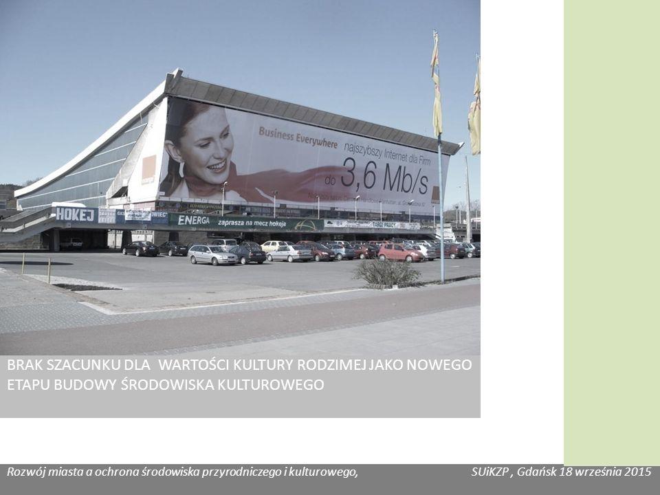 Rozwój miasta a ochrona środowiska przyrodniczego i kulturowego, SUiKZP, Gdańsk 18 września 2015 Katarzyna Józefowicz, Habitat BRAK SZACUNKU DLA WARTOŚCI KULTURY RODZIMEJ JAKO NOWEGO ETAPU BUDOWY ŚRODOWISKA KULTUROWEGO