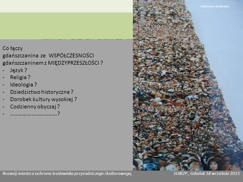 Rozwój miasta a ochrona środowiska przyrodniczego i kulturowego, SUiKZP, Gdańsk 18 września 2015 ……..