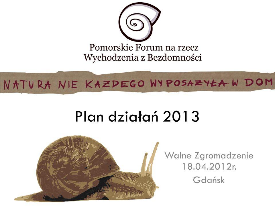 Plan działań 2013 Walne Zgromadzenie 18.04.2012r. Gdańsk