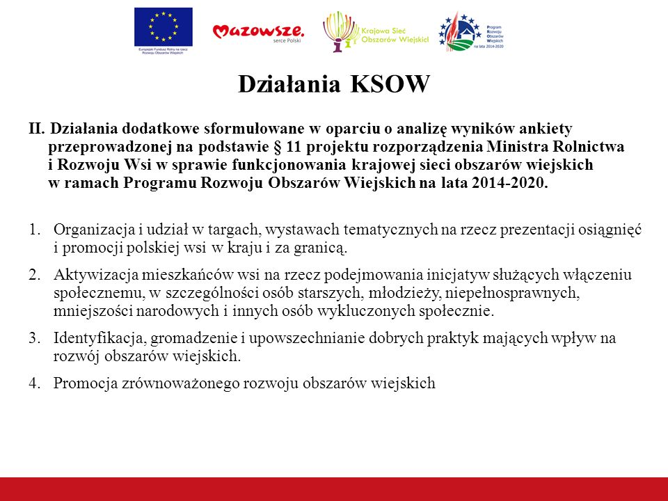 Działania KSOW II.