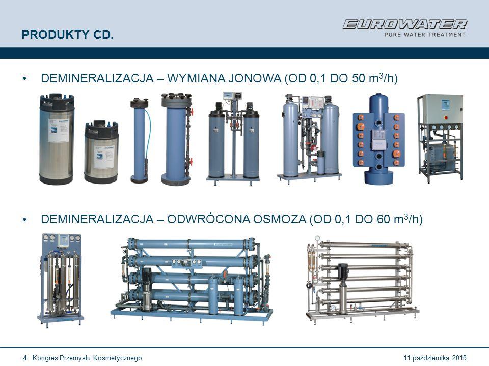 11 października 2015Kongres Przemysłu Kosmetycznego15 Forum Walidacji ISPE Wrocław, 28-29 lutego 2012 European GMP (1) A1.35 Stacje uzdatniania wody i systemy jej dystrybucji powinny być zaprojektowane, wybudowane oraz utrzymane tak, aby zapewnić pewne źródło wody o odpowiedniej jakości  Nie powinny być użytkowane z przekroczeniem ich wydajności nominalnej