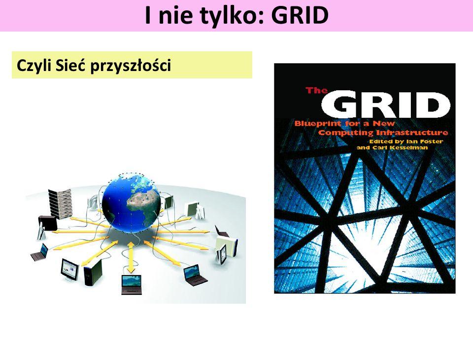 Czyli Sieć przyszłości I nie tylko: GRID