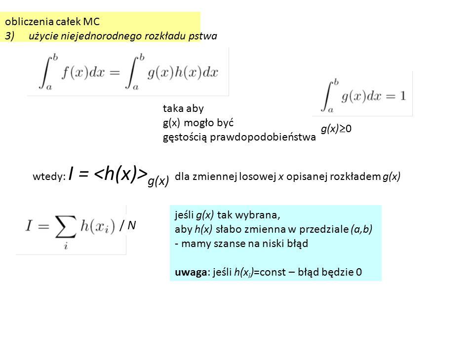 Przykład liczenia całek z użyciem a.