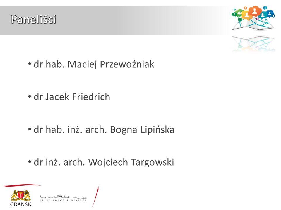 dr hab. Maciej Przewoźniak dr Jacek Friedrich dr hab. inż. arch. Bogna Lipińska dr inż. arch. Wojciech Targowski