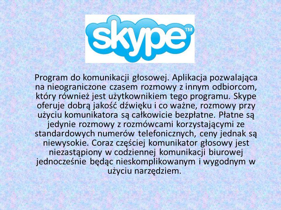 Program do komunikacji głosowej.
