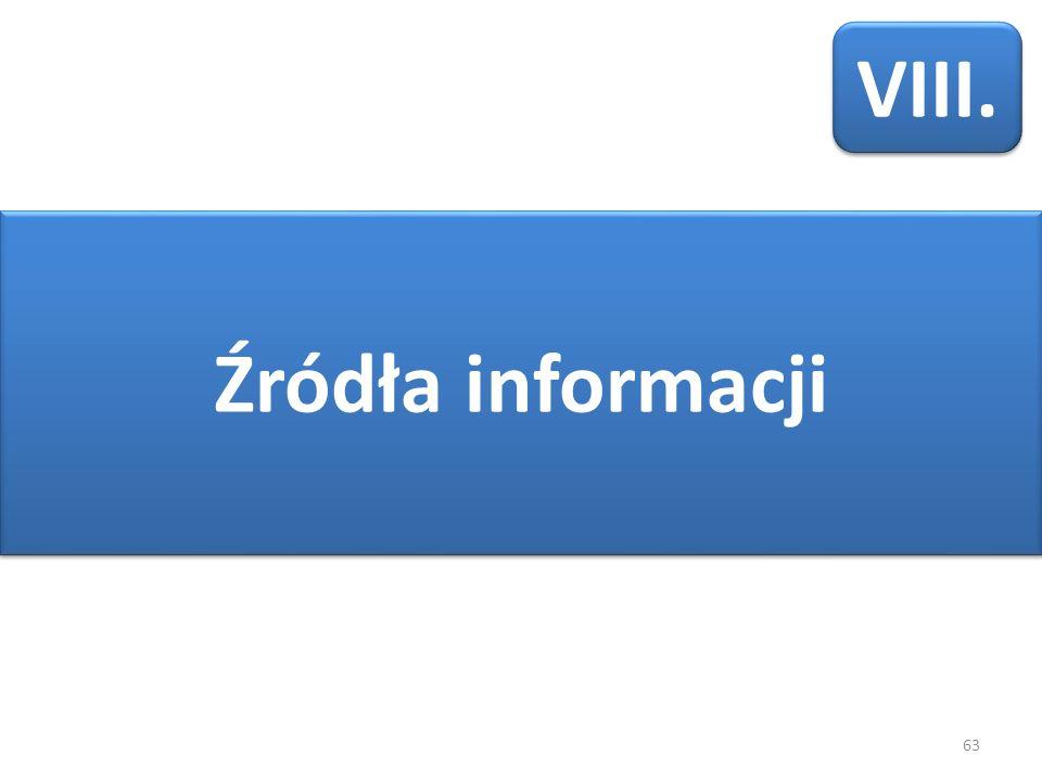 63 Źródła informacji VIII.