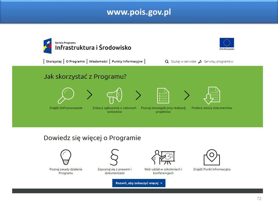 72 www.pois.gov.pl Sieć Punktów Informacyjnych Funduszy Europejskich w województwie opolskim