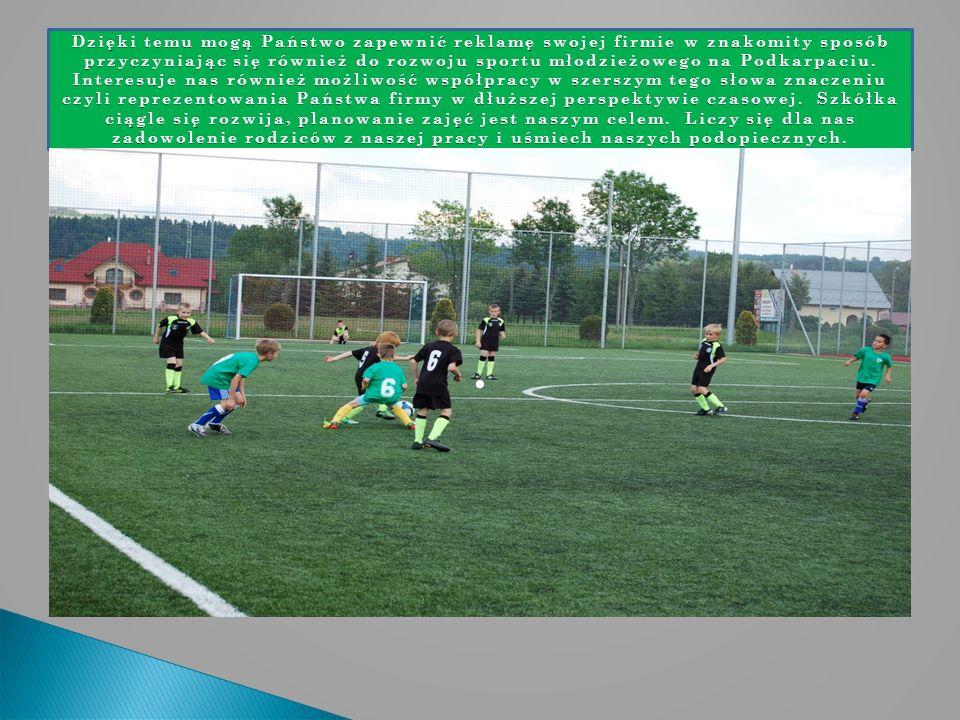 Dzięki temu mogą Państwo zapewnić reklamę swojej firmie w znakomity sposób przyczyniając się również do rozwoju sportu młodzieżowego na Podkarpaciu.