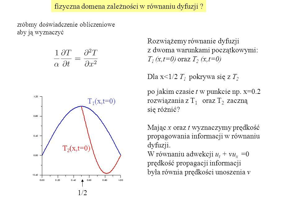 fizyczna domena zależności w równaniu dyfuzji .