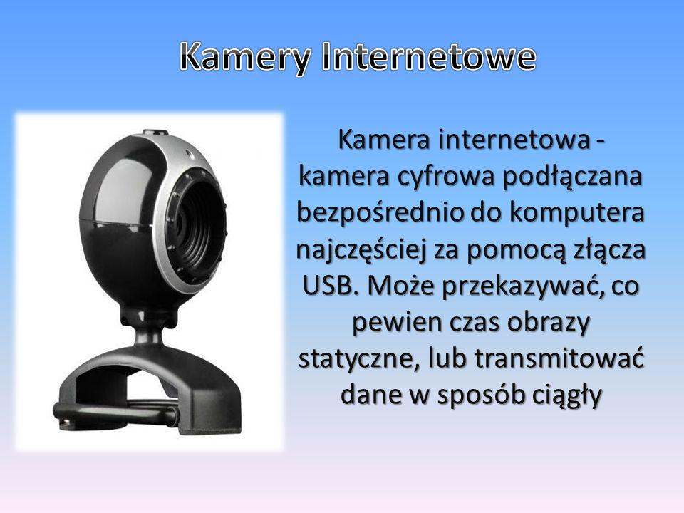 Kamera internetowa - kamera cyfrowa podłączana bezpośrednio do komputera najczęściej za pomocą złącza USB.