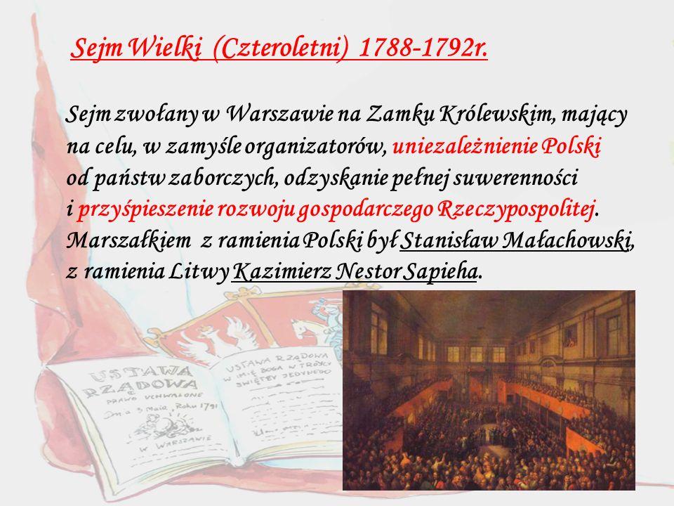 Obrady Sejmu Wielkiego spowodowały, że Polacy poczuli się prawdziwie wolni.