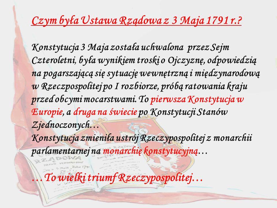 Czym była Ustawa Rządowa z 3 Maja 1791 r..