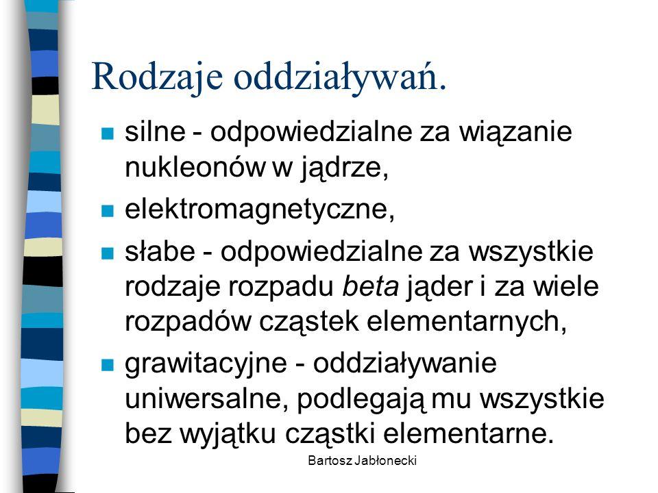Bartosz Jabłonecki Rodzaje oddziaływań.