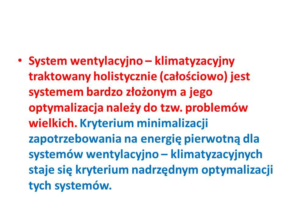System wentylacyjno – klimatyzacyjny traktowany holistycznie (całościowo) jest systemem bardzo złożonym a jego optymalizacja należy do tzw. problemów