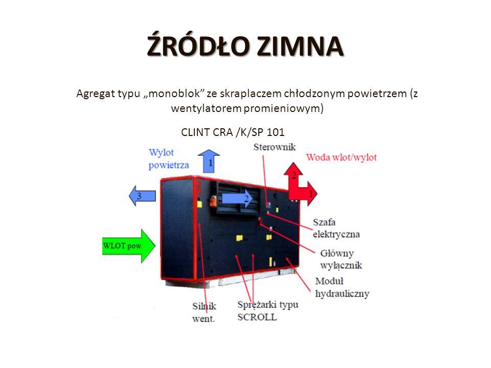 """ŹRÓDŁO ZIMNA Agregat typu """"monoblok"""" ze skraplaczem chłodzonym powietrzem (z wentylatorem promieniowym) CLINT CRA /K/SP 101"""