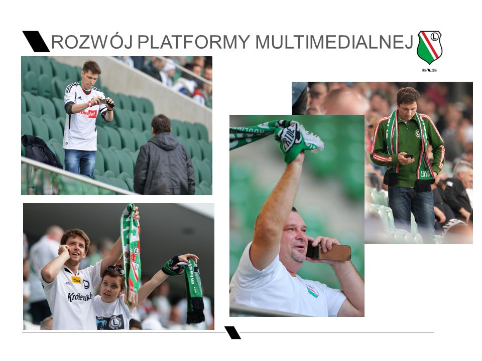 Slide title 70 pt CAPITALS Slide subtitle minimum 30 pt ROZWÓJ PLATFORMY MULTIMEDIALNEJ