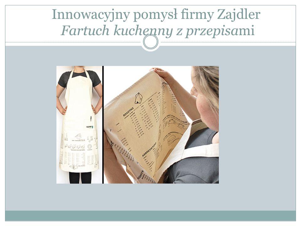 Innowacyjny pomysł firmy Zajdler Fartuch kuchenny z przepisami