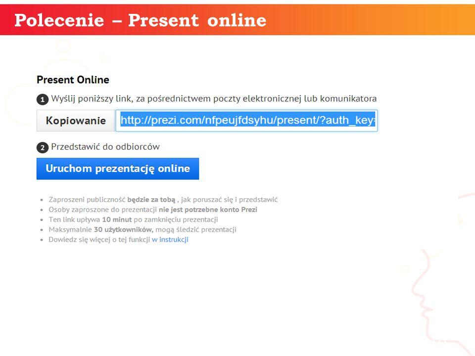 Polecenie – Present online informatyka + 18