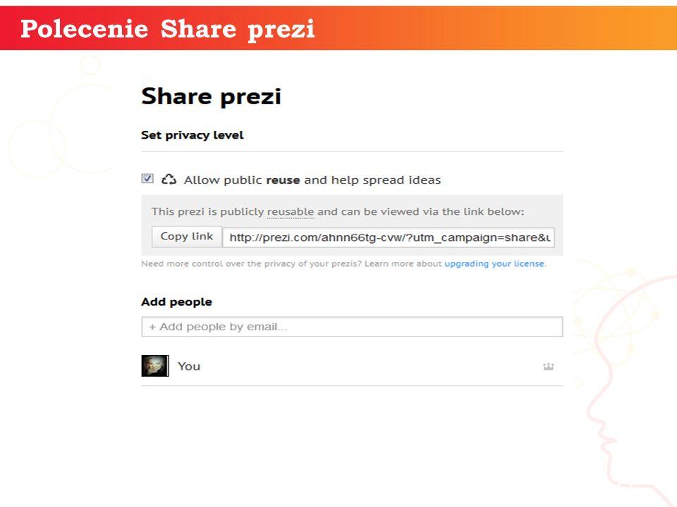 Polecenie Share prezi informatyka + 21