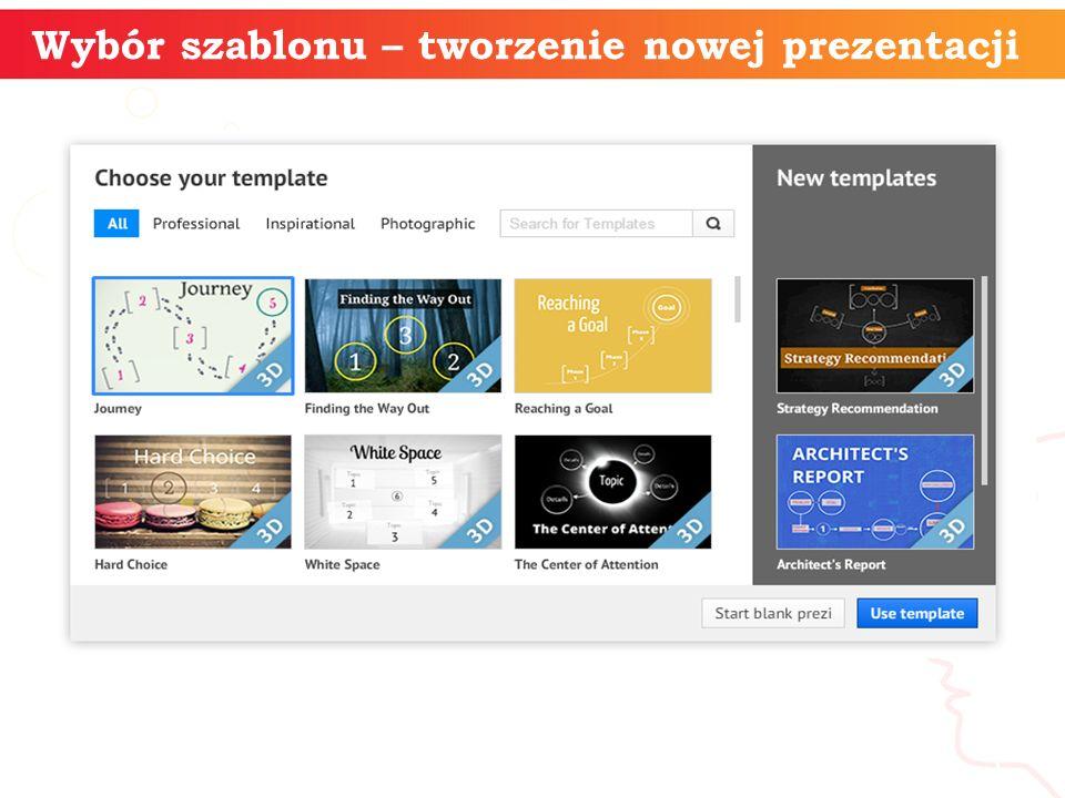 Wybór szablonu – tworzenie nowej prezentacji informatyka + 5