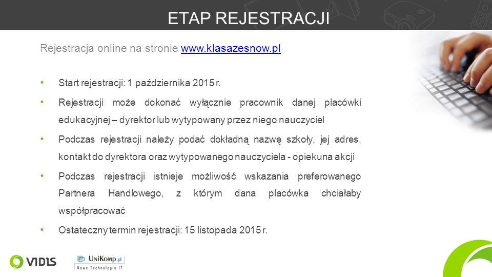 ETAP REJESTRACJI Start rejestracji: 1 października 2015 r.