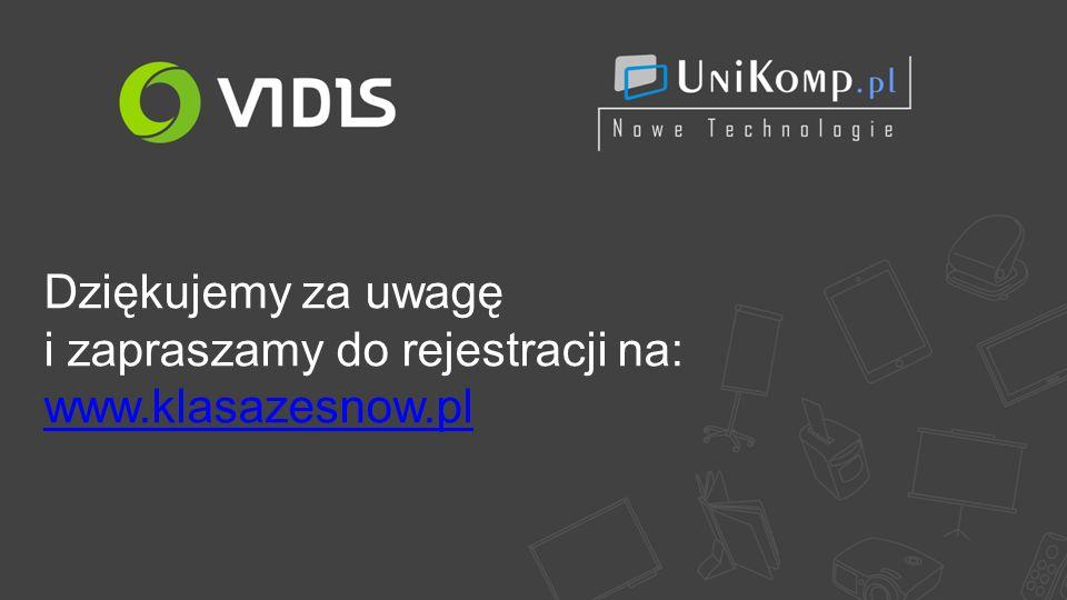 Dziękujemy za uwagę i zapraszamy do rejestracji na: www.klasazesnow.pl www.klasazesnow.pl