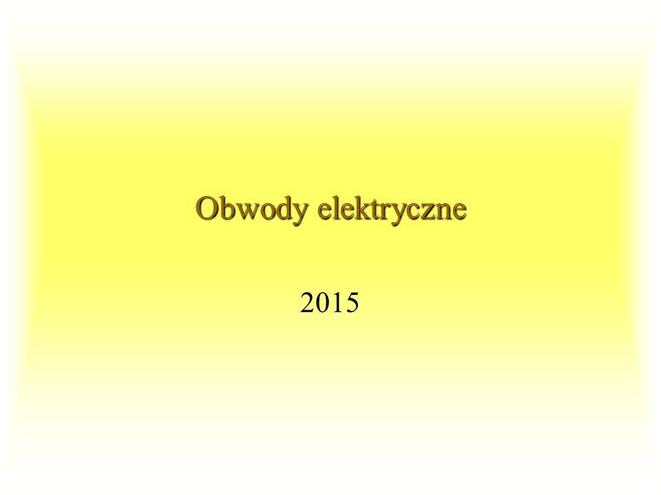 OE1 2015 92Podsumowanie Aby wyznaczyć wypadkową charakterystykę elementów nieliniowych połączonych równolegle należy dla wszystkich (lub wybranych z określoną dokładnością) wartości napięcia dodać wartości prądów elementów składowych.