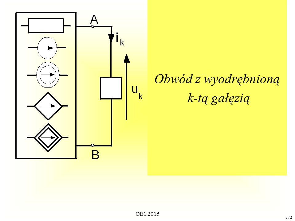 OE1 2015 118 Obwód z wyodrębnioną k-tą gałęzią