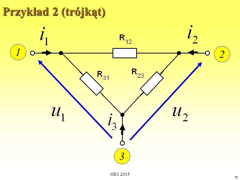 OE1 2015 78 Przykład 2 (trójkąt) 1 2 3
