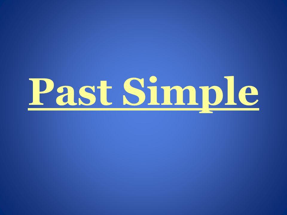 Użycie Czasu Past Simple używamy, kiedy mówimy o czynnościach zakończonych w przeszłości.