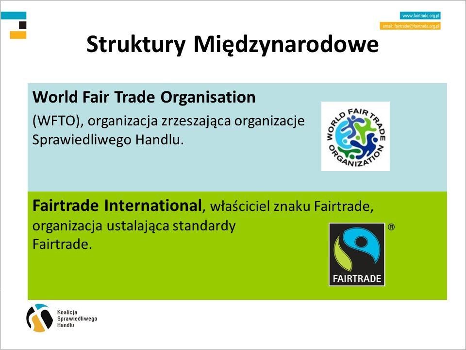 Struktury Międzynarodowe World Fair Trade Organisation (WFTO), organizacja zrzeszająca organizacje Sprawiedliwego Handlu.