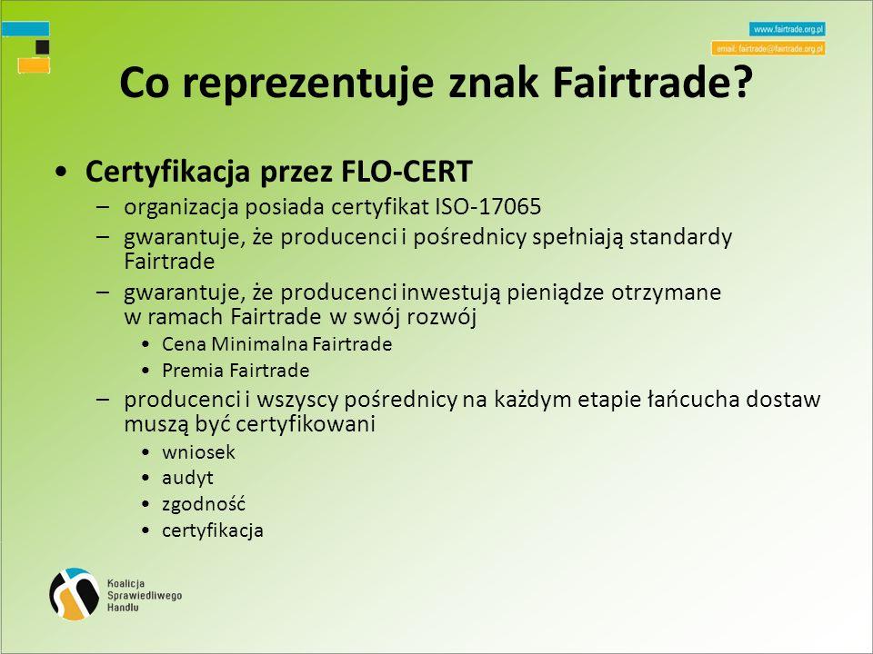 Co reprezentuje znak Fairtrade.