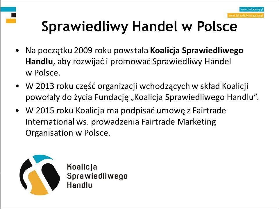 Sprawiedliwy Handel w Polsce Na początku 2009 roku powstała Koalicja Sprawiedliwego Handlu, aby rozwijać i promować Sprawiedliwy Handel w Polsce.