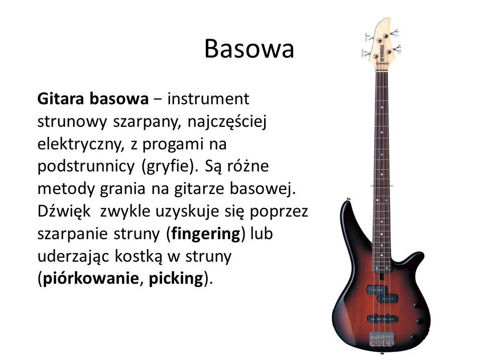 Basowa Gitara basowa − instrument strunowy szarpany, najczęściej elektryczny, z progami na podstrunnicy (gryfie). Są różne metody grania na gitarze ba