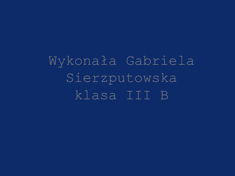 Wykonała Gabriela Sierzputowska klasa III B