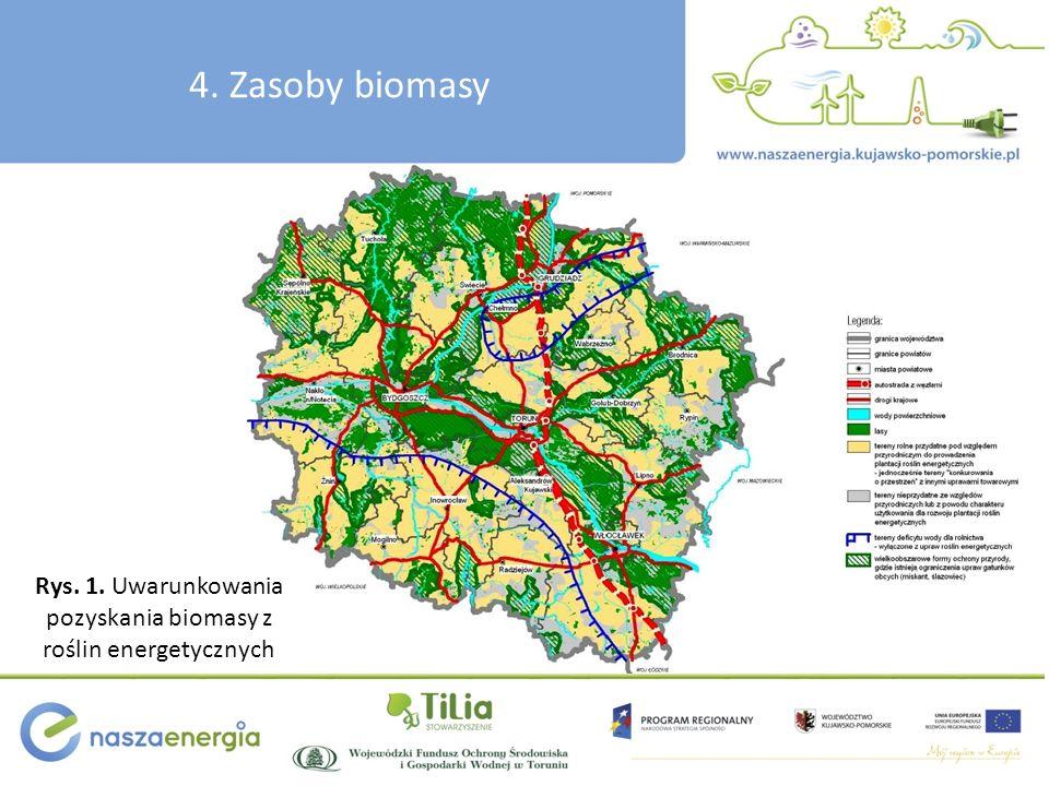 Rys. 1. Uwarunkowania pozyskania biomasy z roślin energetycznych 4. Zasoby biomasy