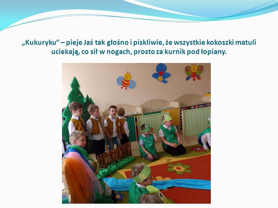 Inscenizacja warmińskiej baśni w wykonaniu dzieci z grupy,,Biedronki Miejskiego Przedszkola Integracyjnego,,Malinka w Kętrzynie.