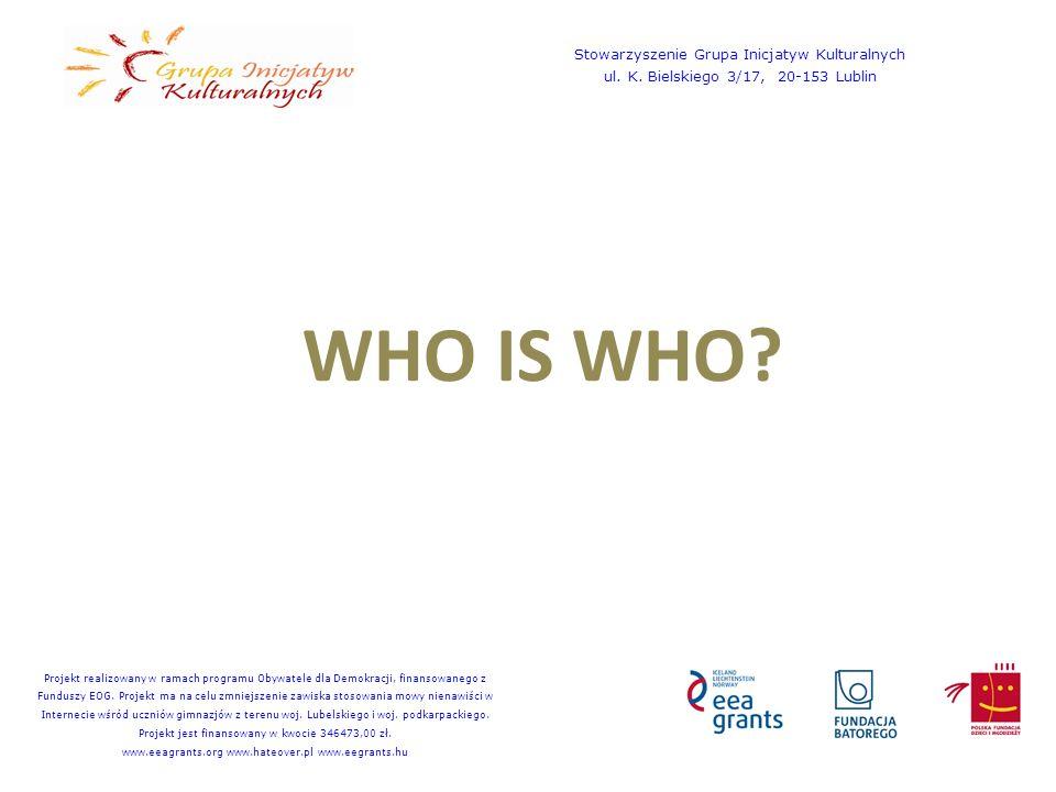 WHO IS WHO. Stowarzyszenie Grupa Inicjatyw Kulturalnych ul.
