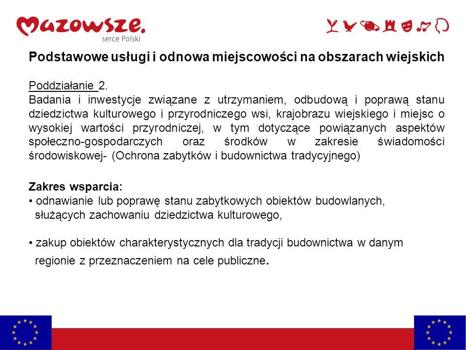 Podstawowe usługi i odnowa miejscowości na obszarach wiejskich Poddziałanie 2.
