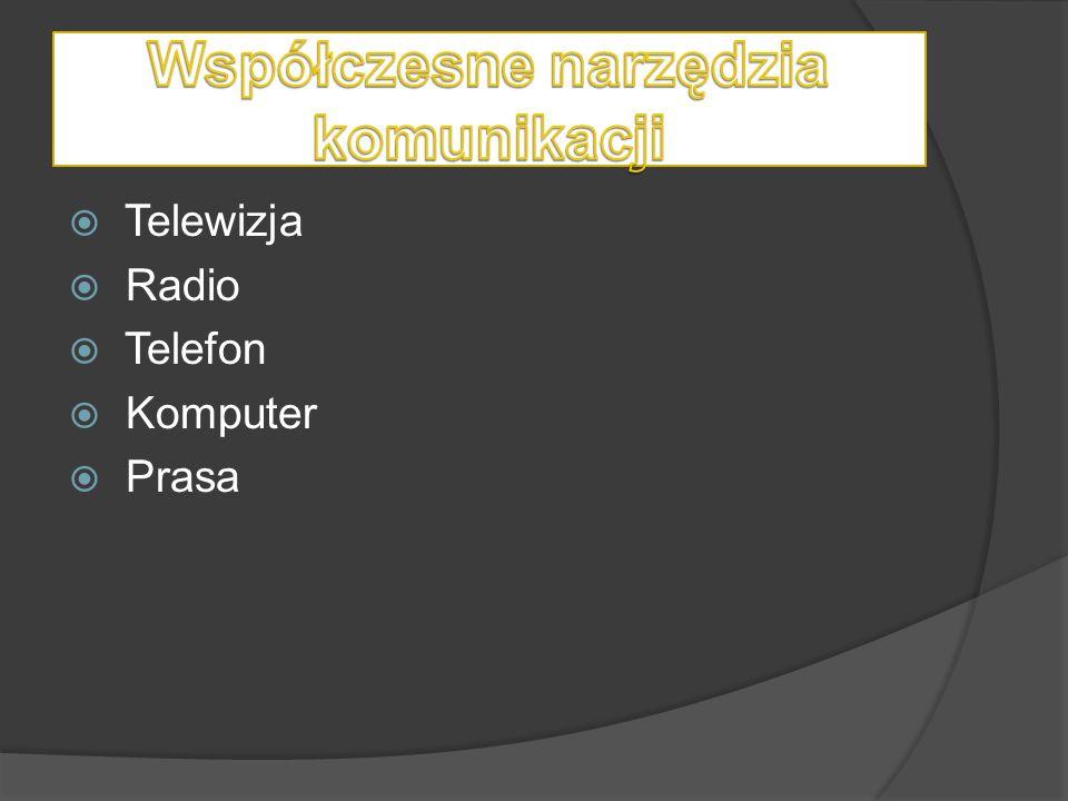  Telewizja  Radio  Telefon  Komputer  Prasa