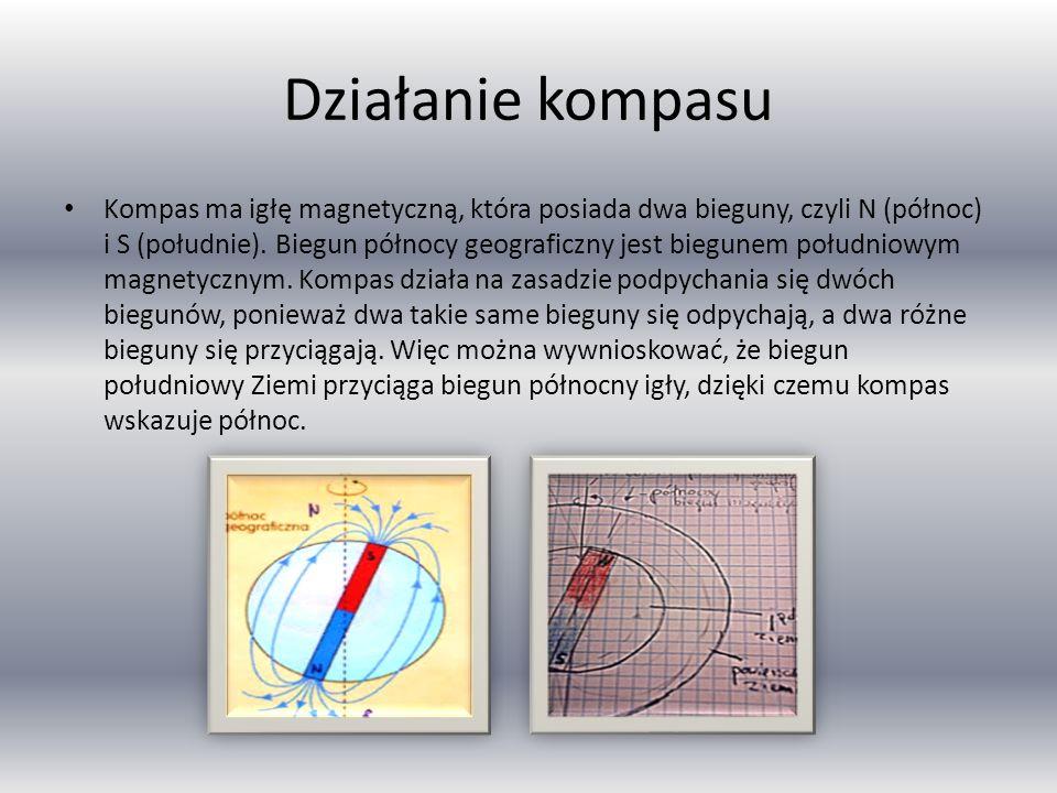 Ziemia jako magnes Ziemskie pole magnetyczne – pole magnetyczne występujące naturalnie wewnątrz i wokół Ziemi. Pole magnetyczne rozciąga się na kilkad