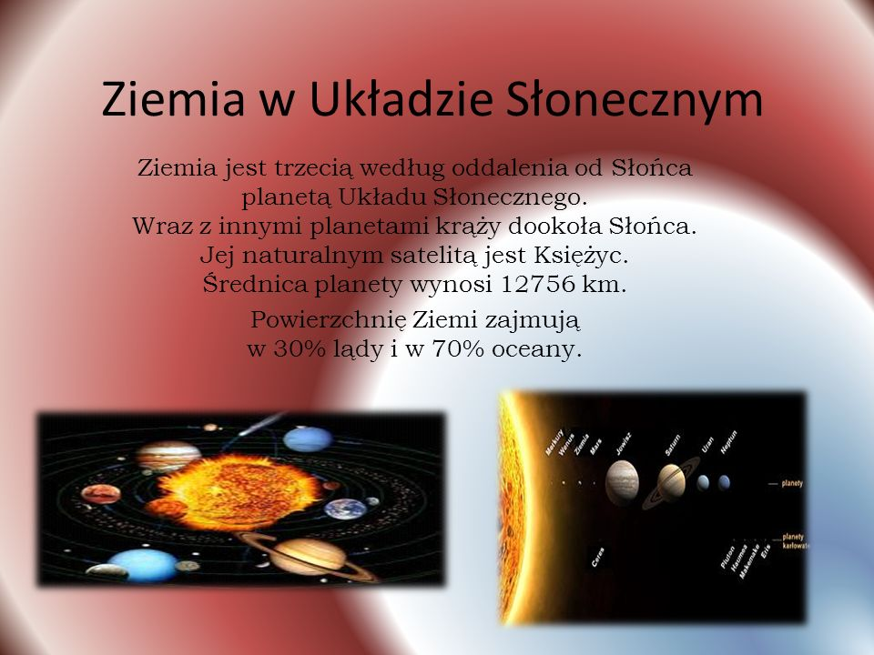 """Opracowane tematy:  Ziemia w kosmosie;  Ziemia, jako """"mokra planeta"""";  Wycieczka na dno oceanu;  Ziemia, jako magnes;  Ziemia – planeta życia. Fi"""
